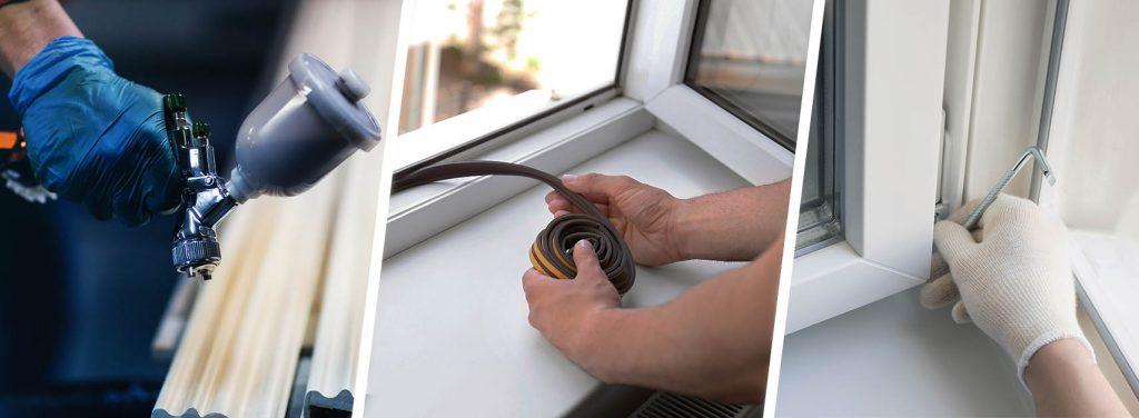 Serwis i naprawa okien - malowanie okien, uszczelnianie i regulacja.